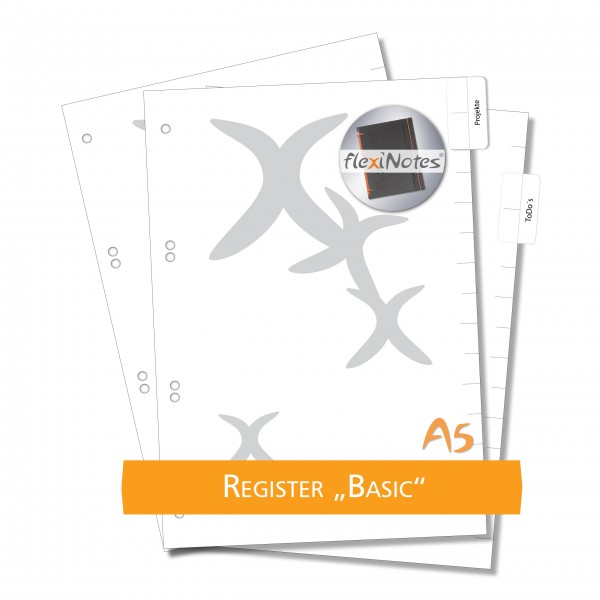 "flexiNotes REGISTER A5 ""Basic"""