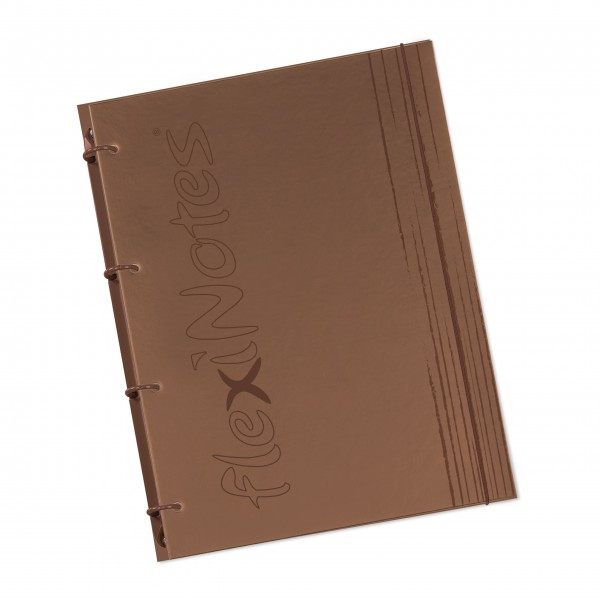"flexiNotes® NOTIZBUCH A4 ""fN Brown"""