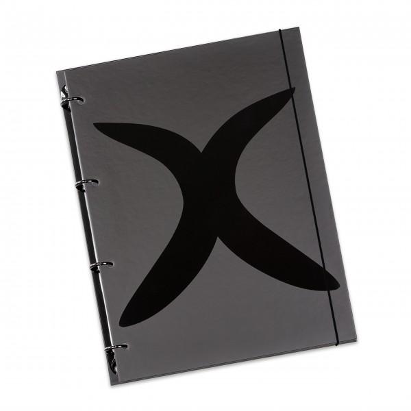 """flexiNotes® NOTIZBUCH A5 """"X-Black"""""""