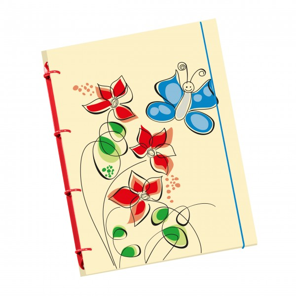 "flexiNotes® NOTIZBUCH A5 ""Butterfly"""
