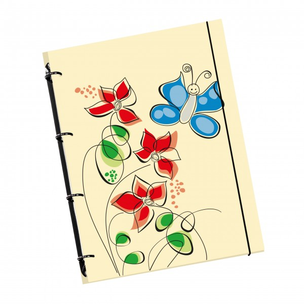 "flexiNotes NOTIZBUCH A4 ""Butterfly"""