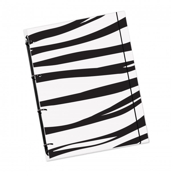 "flexiNotes® NOTIZBUCH A4 ""Zebra"""