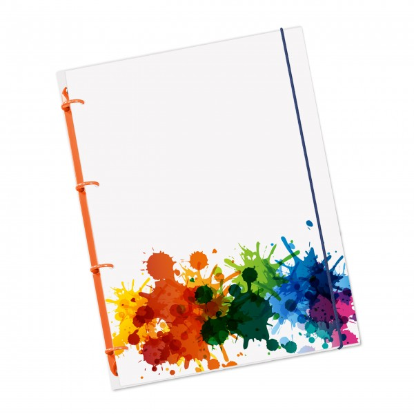 "flexiNotes® NOTIZBUCH A4 ""Splash"""